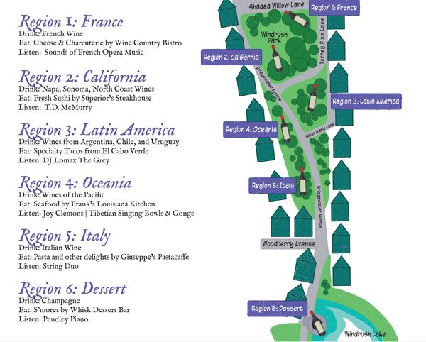 Catahoula Wine Mixer Map
