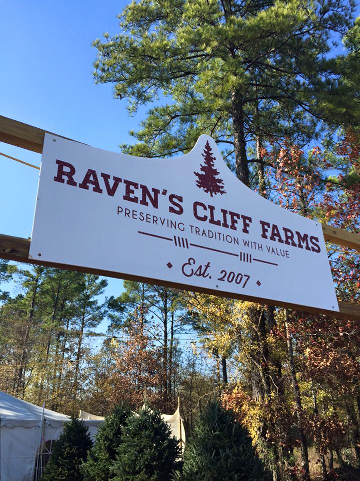 Raven's Cliff Farms Shreveport Christmas Sign