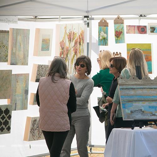 Spring Art Bazaar Square April Event