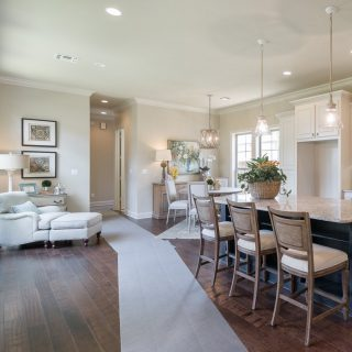 Today we're looking back at some Provenance Parade Homes from years ago. We love this kitchen layout with reading/relaxing nook off to the side. #kitchenlayout #kitchendesign #provenanceshreveport