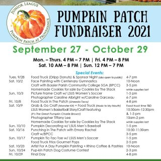 Here are a few fun events going on at The Patch this year! Follow the @juniorleaguesb for all the latest updates! #iamjlsb #seeshreveportbossier #sbfunguide #mackidsbmoms #hulafrogshreveport #pressplaysb #pumpkinpatch