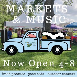 Come see us in Windrush Park tonight from 4-8 pm! Produce, art, jewelry, drinks, and good eats! 🍅🥖🍓🌽Join us at Windrush Park for the LAST Summer Market & Music event to peruse produce and meats, art, and other goods by local growers, makers, and artists.  Music begins at 4:30PM. Grab dinner and dessert – Ono's Hawaiian and Baby Cakes Bakery will be here! Lowder Baking Company will also be here with BBQ pulled pork sandwiches on jalapeño cheddar buns (YUM!) Spread out on the lawn with family or friends and truly experience what Provenance has to offer (BYOB – Bring your own blanket)! Ono Hawaiian Grill  Vendor List: Always Miss Be Haven Angela Cory's Tasty Treats Art by Sarah Katherine Semon Be Golden Jewelry Bell & Glitter Ben's Body Basics Bracelets 4 George Cammies Cakes Cranked Up Confections LLC Divine Indulgences Face Painting by Becky Fleurish Flower Co. Glitter and Grace Glory and Grace Splendid Tea Co. Healing Water's Candles High Cotton Homegrown - IN A JAR Interior Diva Jessies Farm & Market Judy's Bayou Boutique Lowder's Bakery Luxurious Lather McCurry Produce Mila Paige Jewelry Mimi's Meat Tamer Nana and Papa'S Kitchen Odds and Oodles Pretty Little Signs Rachel Rimmer Rooster's Salsa Saige Acres Flower Farm Shreveport Cottage Sugarwalk Popcorn Surfari Salsa The Cup Lady Trevor Ray Studios LLC We Olive Whitehall Farms Wonderfully Made Cookie Kits  Get Updates here: Provenance Summer Farmers Markets & Music Thursdays in June  🎶 Live Music by FBC Band featuring Provenance residents 😎